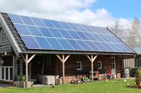 zonnepanelen op veranda